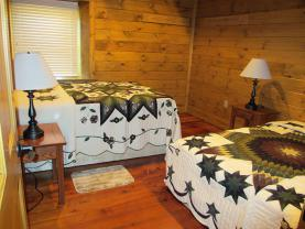 Bedroom #1 in original upstairs has 2 beds   2 Doubles