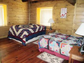 Bedroom #3 in original upstairs has 2 beds   2 Doubles